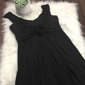 Suzi Chin Black Sleeveless Knit Dress Sz 14